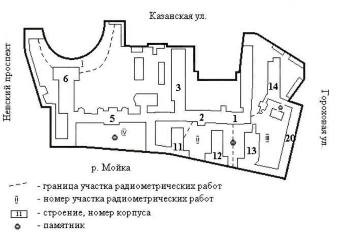 Картосхема территории РГПУ им.